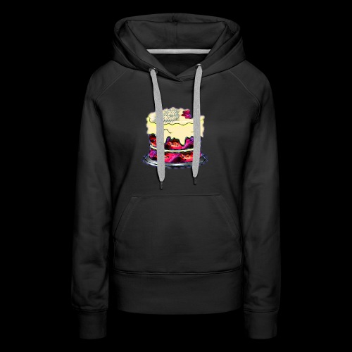 The Baked Space Cake logo - Women's Premium Hoodie