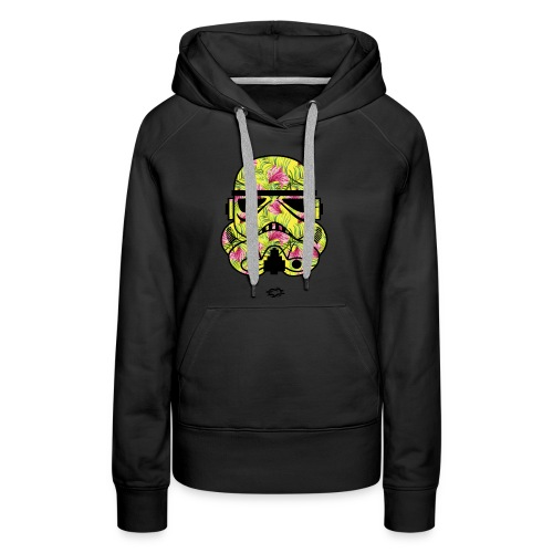 Trooper Mask Floral Green - Women's Premium Hoodie