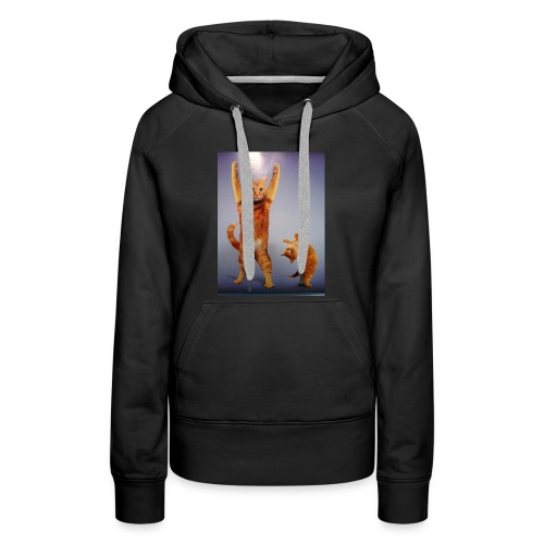 can do all things cat - Women's Premium Hoodie