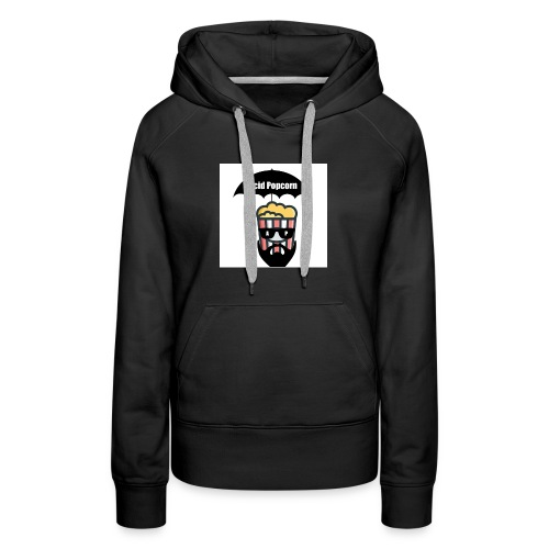 Acid Popcorn Logo Official - Women's Premium Hoodie