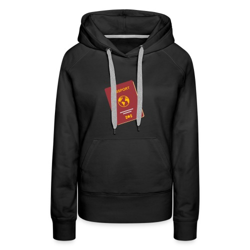 passport travel icon by Travel4hlidays - Women's Premium Hoodie