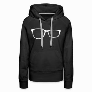 ZobGlasses White - Women's Premium Hoodie