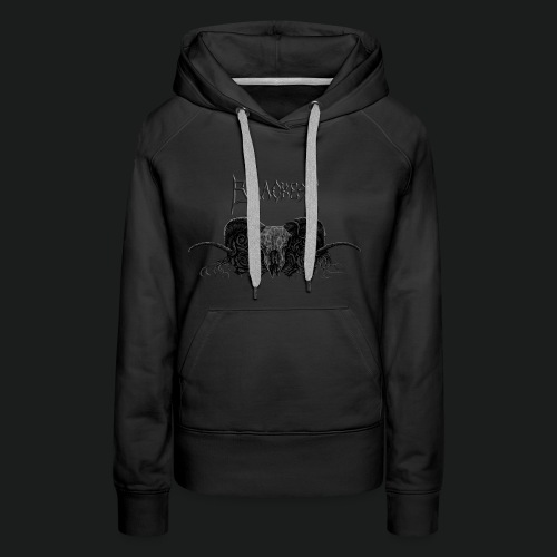 Skull and Roses With Blackest Logo - Women's Premium Hoodie