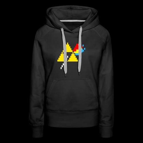 the dark side of the Triforce pixel - Women's Premium Hoodie
