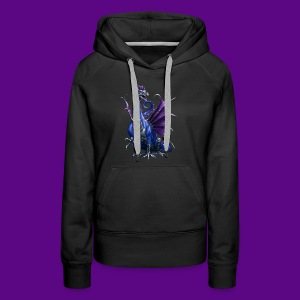 PURPLE AND BLUE WATER DRAGON - Women's Premium Hoodie