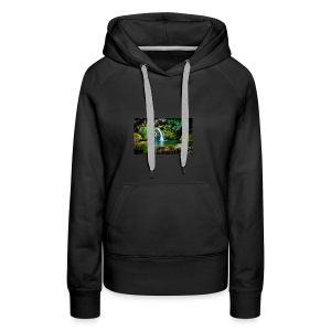 waterfall wallpaper desktop - Women's Premium Hoodie