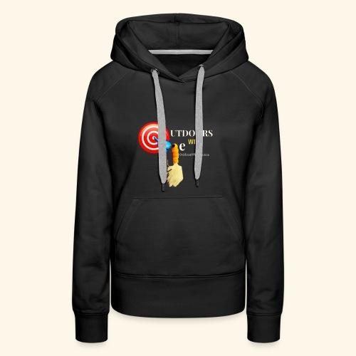 Outdoors with Oge Target and Jighead Logo - Women's Premium Hoodie