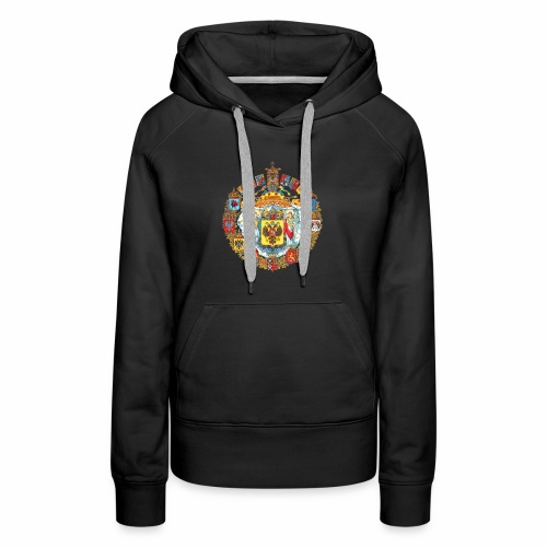 800px Greater coat of arms of the Russian empire - Women's Premium Hoodie