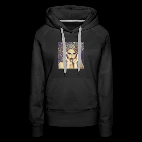 headache , beautiful woman, dream, focus - Women's Premium Hoodie