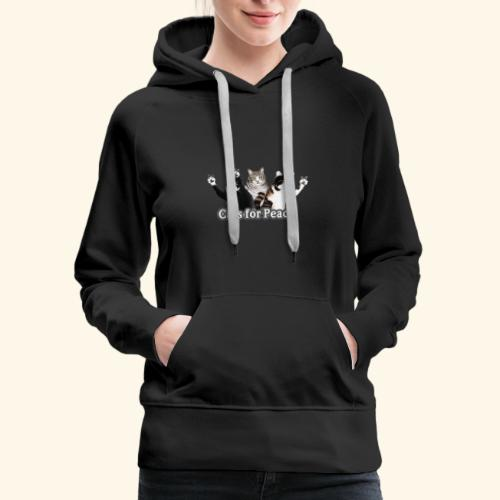 Cats for peace - Women's Premium Hoodie