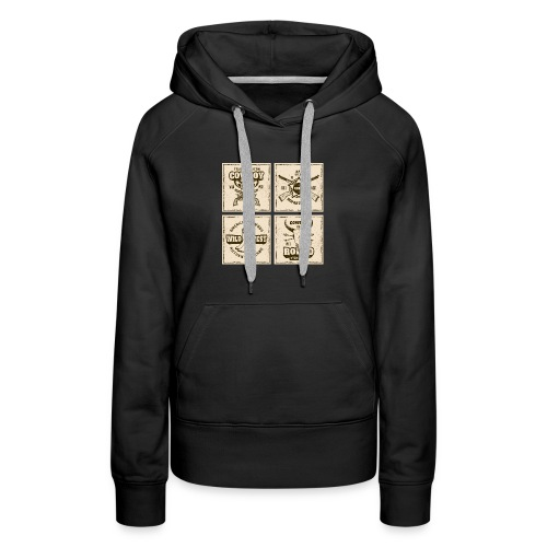American Cowboy Rodeo Show Wild West Collection - Women's Premium Hoodie