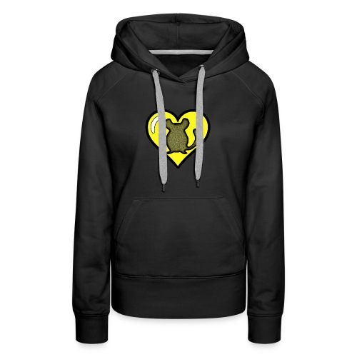 Yellow Chinchilla Heart - Women's Premium Hoodie
