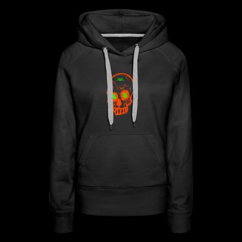 grunge skull - Women's Premium Hoodie