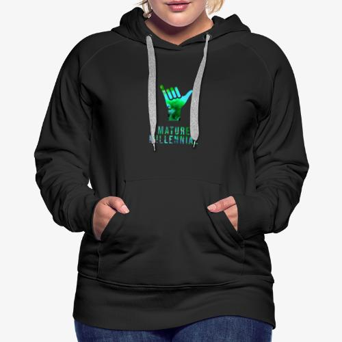 Mature Millennial Minimal Statement Shirt Abstract - Women's Premium Hoodie