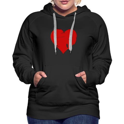 Valentine Heart, Love Heart - Women's Premium Hoodie