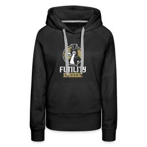 Futility Closet Logo - Reversed - Women's Premium Hoodie