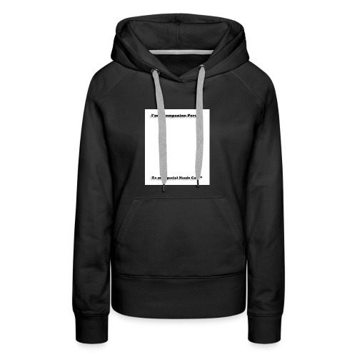 Companion Person to Special Needs Cat - Women's Premium Hoodie