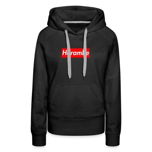 Harambe x Supreme Box Logo - Women's Premium Hoodie