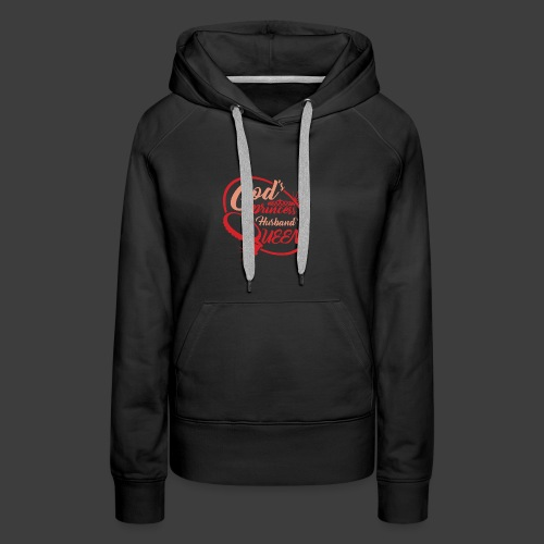 God's Princess Husband's Queen (Red) - Women's Premium Hoodie