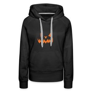 Jack o Lantern Halloween Pumkin face scary Costume - Women's Premium Hoodie