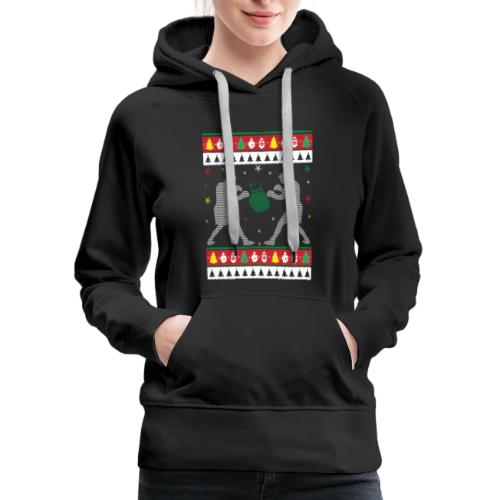 Boxing Ugly Christmas Sweater - Women's Premium Hoodie