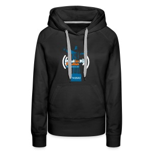 Paul in Rio Radio - The Thumbs up Corcovado #2 - Women's Premium Hoodie