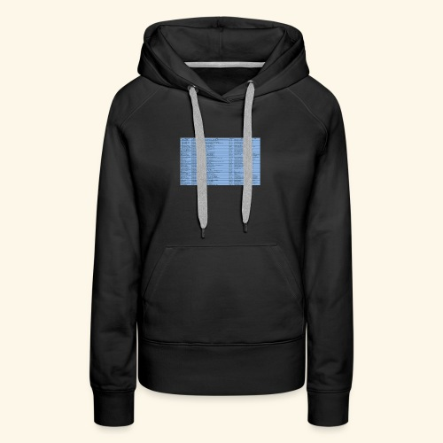 data entry with excel99 - Women's Premium Hoodie