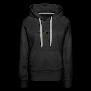 Grim Gold edge black interior - Women's Premium Hoodie
