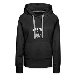 The_Two_Wheeled_Ape_Full_Throttle - Women's Premium Hoodie
