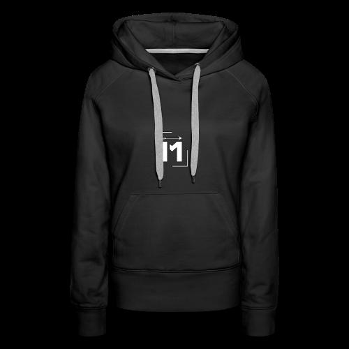 MADE white BrstPKT emblem - Women's Premium Hoodie