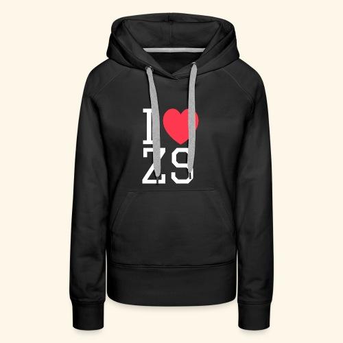 I ♥ ZS Black - Women's Premium Hoodie