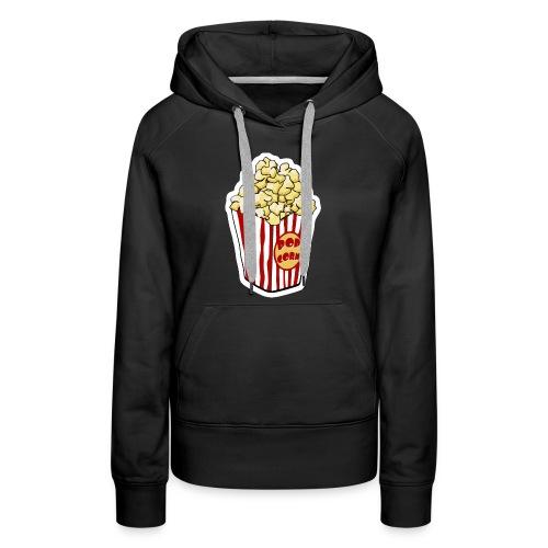 Popcorn Cartoon Pop Corn - Women's Premium Hoodie