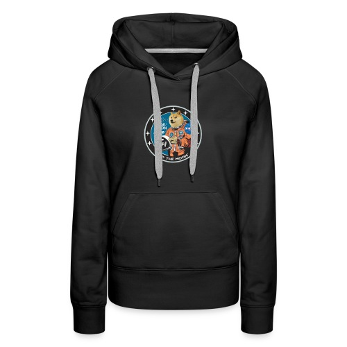 Doge to the Moon - Women's Premium Hoodie