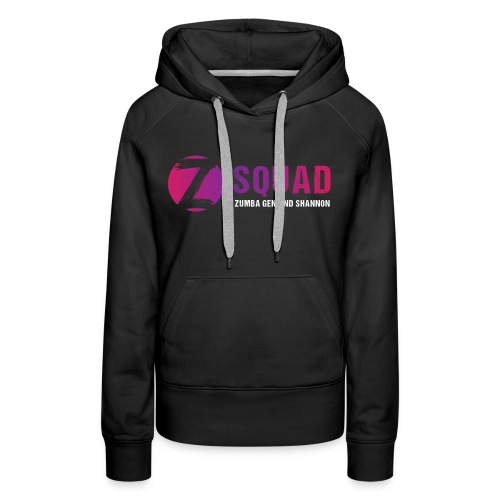 Z SQUAD LogoWHITE - Women's Premium Hoodie