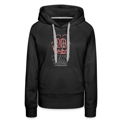 Next Factory Online Showcard Red and White WhtText - Women's Premium Hoodie