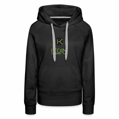 KOIN LOGO GREEN TRANSPARENT - Women's Premium Hoodie