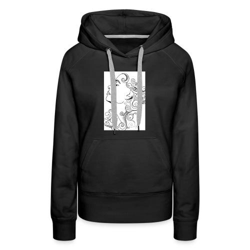 Membuat Doodle Art Wajah 719x1024 - Women's Premium Hoodie