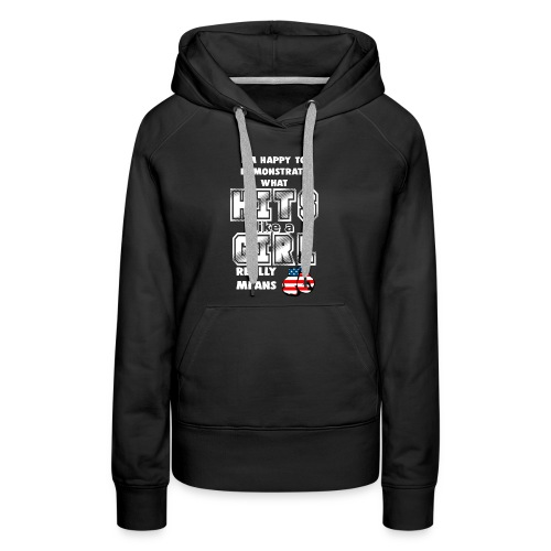 HITS LIKE A GIRL - BOXING GIRL - Women's Premium Hoodie