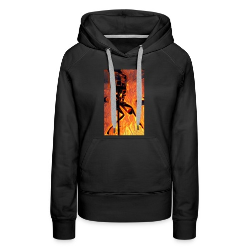 Fire Basketball Player - Women's Premium Hoodie