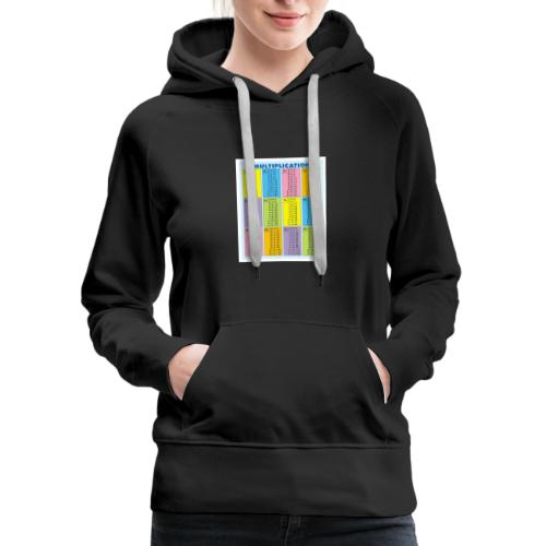 Multiplication Chart - Women's Premium Hoodie