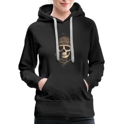 Skull Hat Beanie Peru - Women's Premium Hoodie
