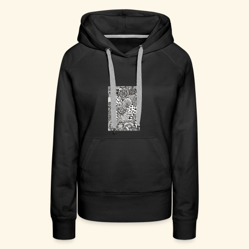 Black and white tigerprint - Women's Premium Hoodie