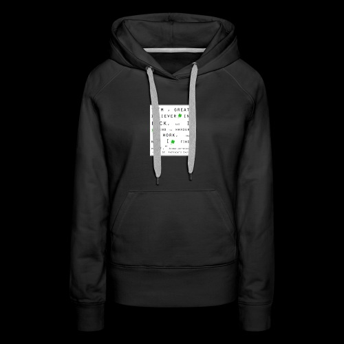 Believer in Luck - Women's Premium Hoodie