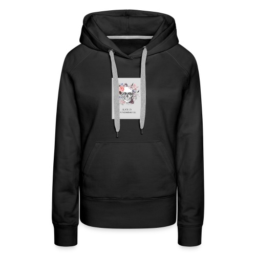 Alice In Wonderskull T-shirt - Women's Premium Hoodie