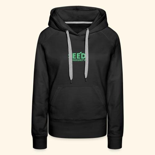 SEED Community Logotype - Green - Women's Premium Hoodie