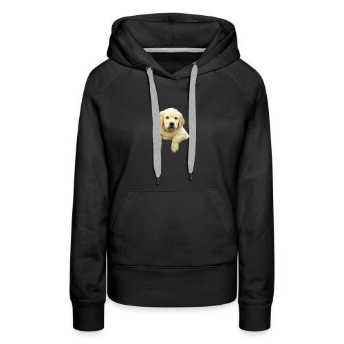Labrador puppy climbing - Women's Premium Hoodie