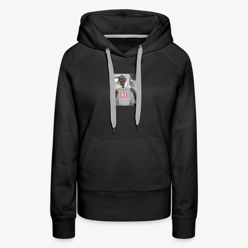 DELUXE -DLX LIMITED EDITION Obama DLX Box Logo - Women's Premium Hoodie