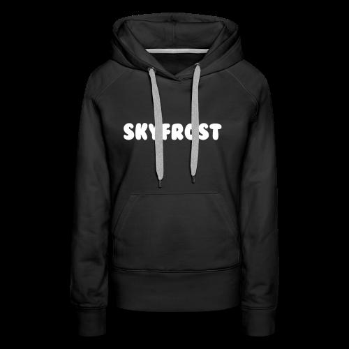 SkyFrost White Text - Women's Premium Hoodie