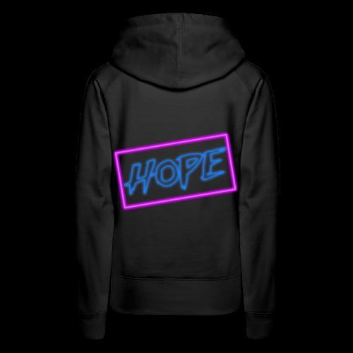 Hope neon sign - Women's Premium Hoodie