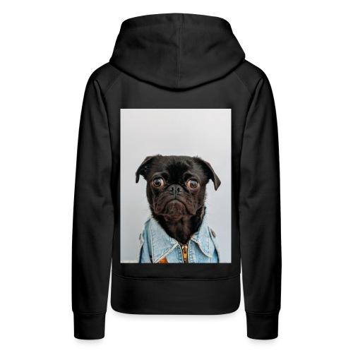 pug expression cute dog t-shirt - Women's Premium Hoodie
